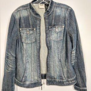 Harley-Davidson embellished denim jacket M